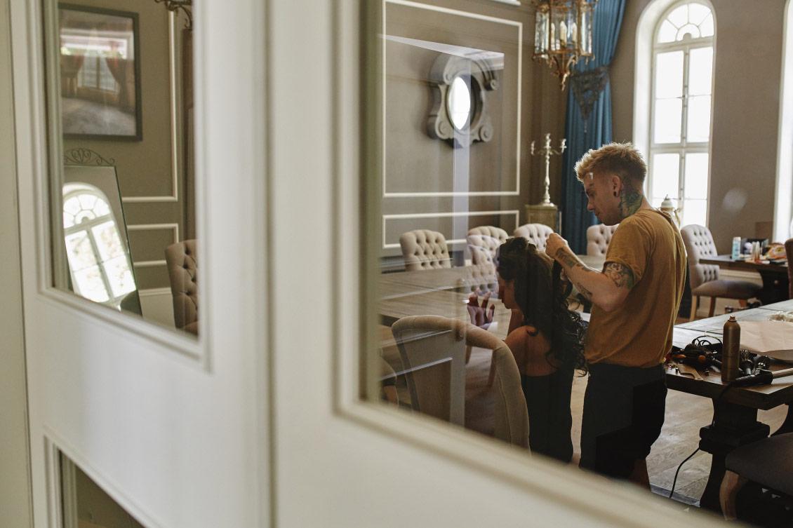 Przygotowania do ślubu w pałacu w Małej Wsi